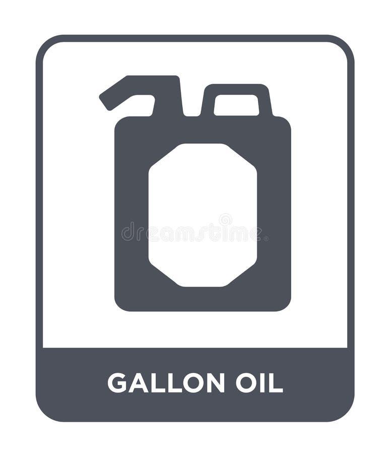 icona dell'olio di gallone nello stile d'avanguardia di progettazione icona dell'olio di gallone isolata su fondo bianco icona di royalty illustrazione gratis