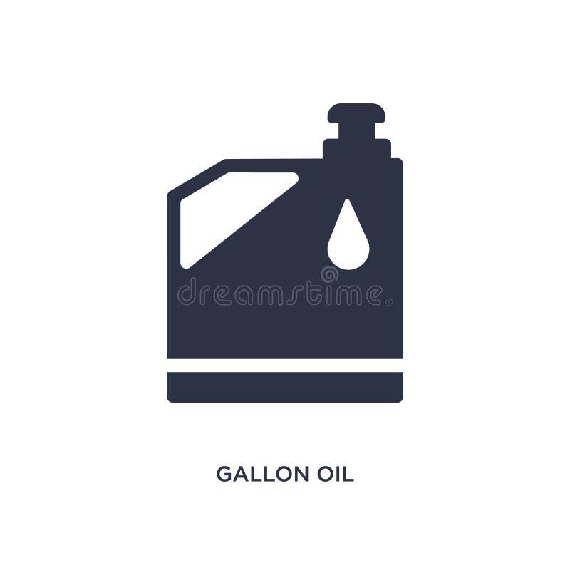 icona dell'olio di gallone su fondo bianco Illustrazione semplice dell'elemento dal concetto degli strumenti illustrazione vettoriale