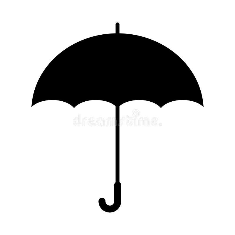 Icona dell'ombrello nello stile piano d'avanguardia isolata su fondo Simbolo della pagina dell'icona dell'ombrello per il vostro  illustrazione di stock