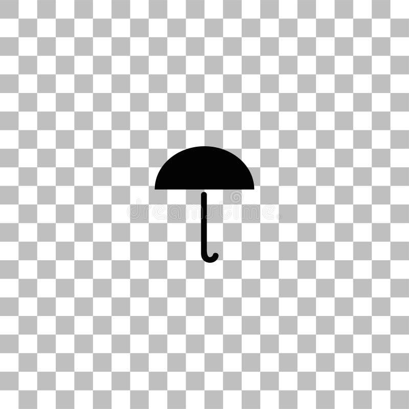 Icona dell'ombrello piana royalty illustrazione gratis