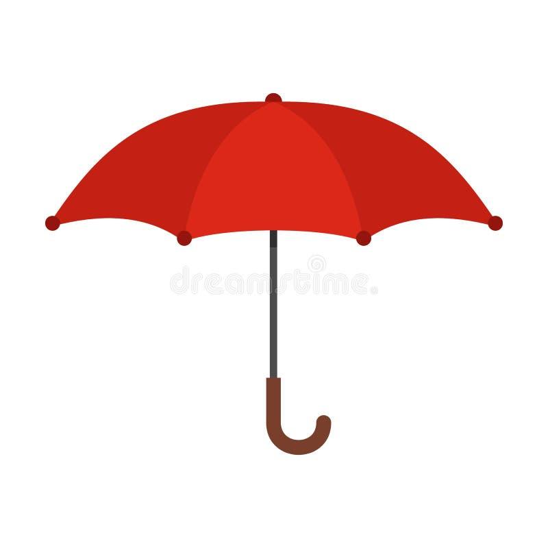 Icona dell'ombrello, stile piano illustrazione vettoriale