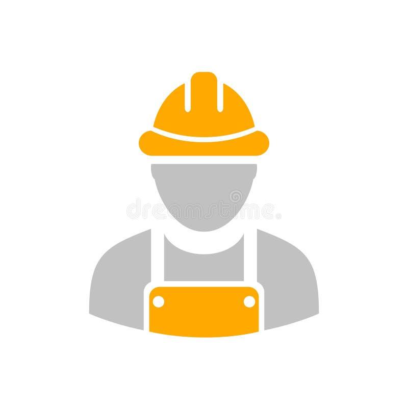 Icona dell'operaio del costruttore illustrazione di stock