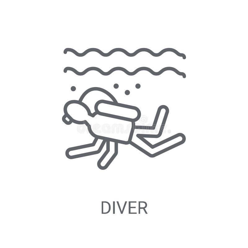 Icona dell'operatore subacqueo Concetto d'avanguardia di logo dell'operatore subacqueo su fondo bianco da N illustrazione di stock