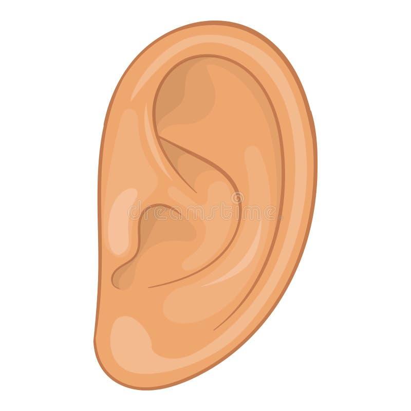 Icona dell'orecchio, stile del fumetto illustrazione di stock