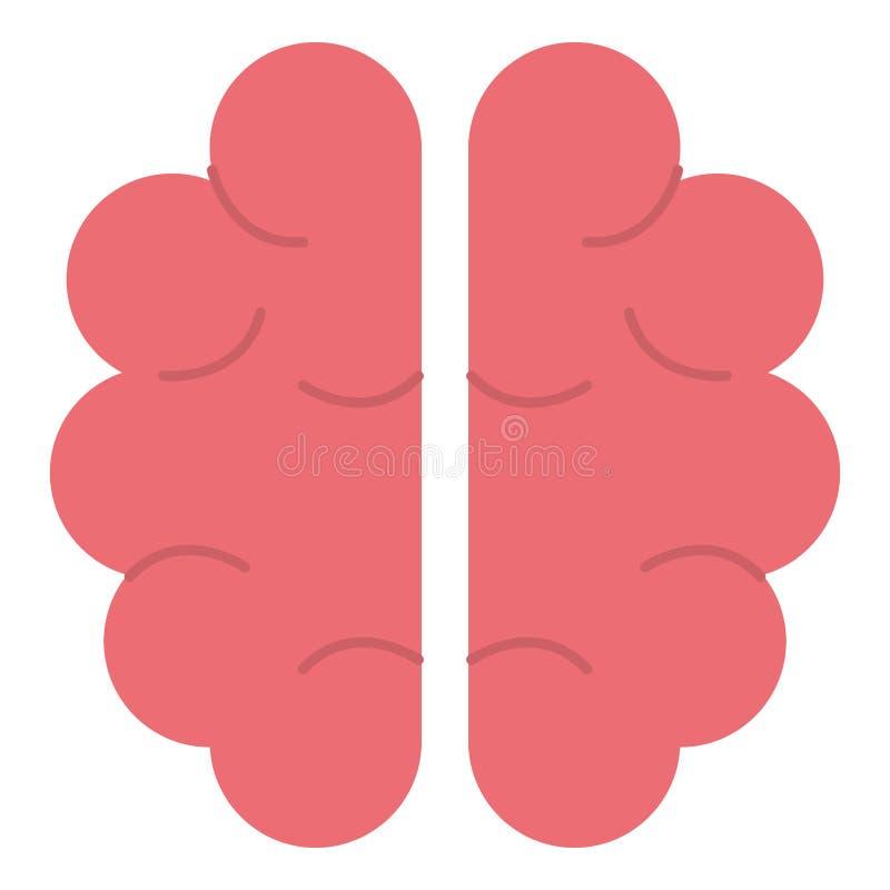 Icona dell'organo del cervello umano royalty illustrazione gratis