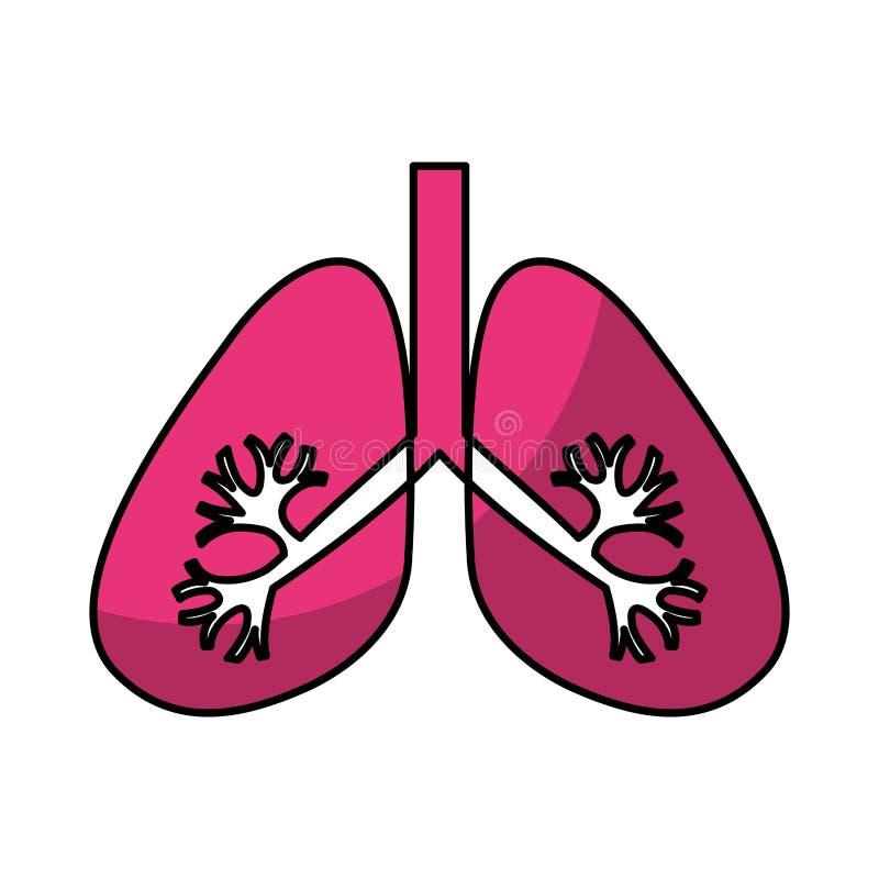 Icona dell'organo umano dei polmoni royalty illustrazione gratis