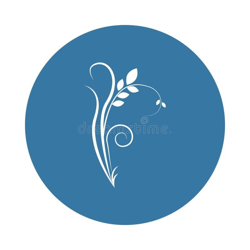 icona dell'ornamento del fiore Elemento delle icone degli ornamenti per i apps mobili di web e di concetto L'icona dell'ornamento illustrazione vettoriale