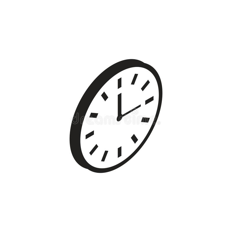 Icona dell'orologio di parete illustrazione vettoriale