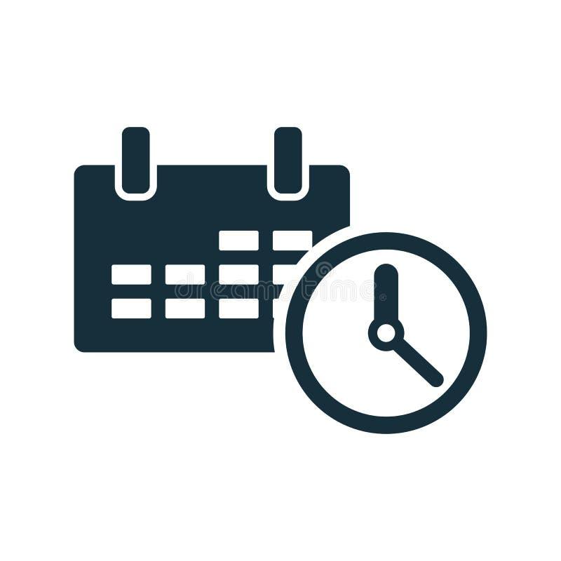 Icona dell'orologio marcatempo del calendario illustrazione vettoriale