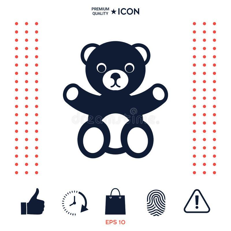 Download Icona dell'orsacchiotto illustrazione vettoriale. Illustrazione di cute - 117977364