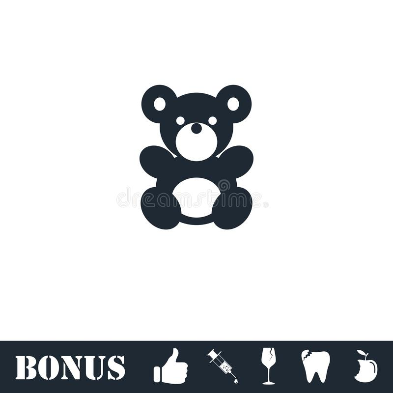 Icona dell'orsacchiotto piana royalty illustrazione gratis