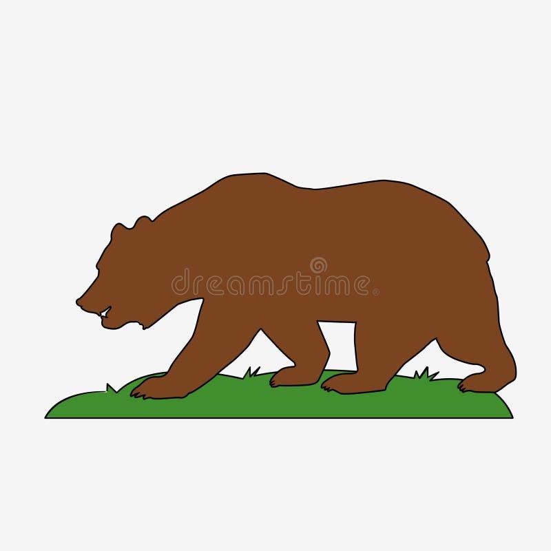 Icona dell'orso Illustrazione di concetto di vettore per progettazione illustrazione di stock
