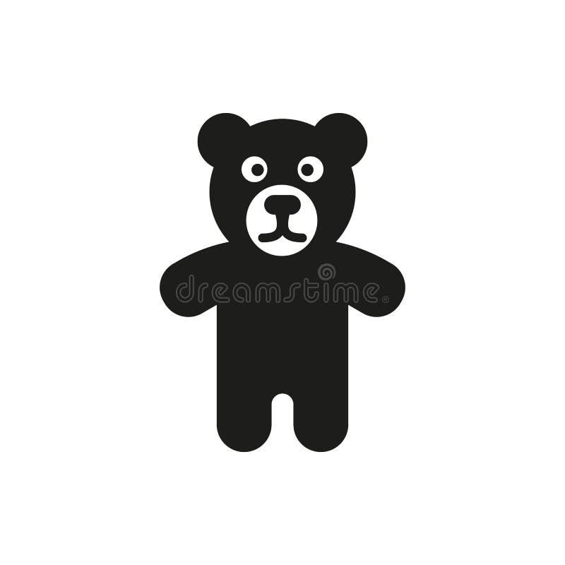 Icona dell'orso Progettazione Simbolo del giocattolo web grafico ai app marchio oggetto piano immagine segno ENV Arte immagine -  illustrazione di stock