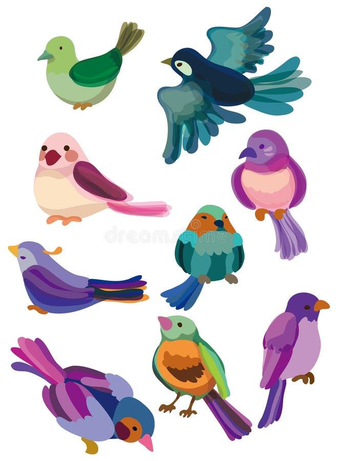Icona dell'uccello del fumetto illustrazione di stock