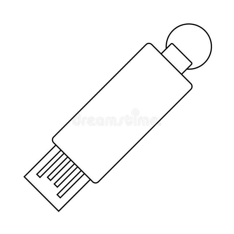 Icona dell'USB Flash royalty illustrazione gratis