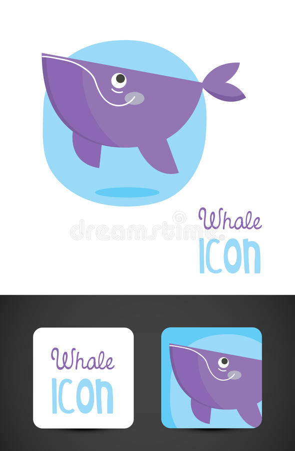 Icona della balena fotografia stock libera da diritti