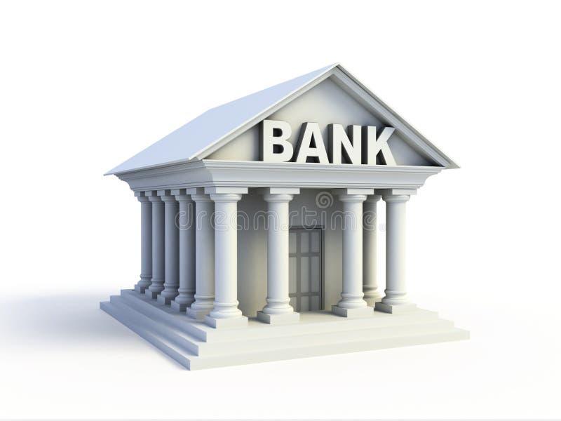 Icona della Banca 3d illustrazione di stock