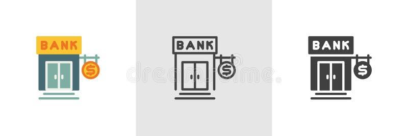 Icona della banca dei soldi del dollaro illustrazione vettoriale