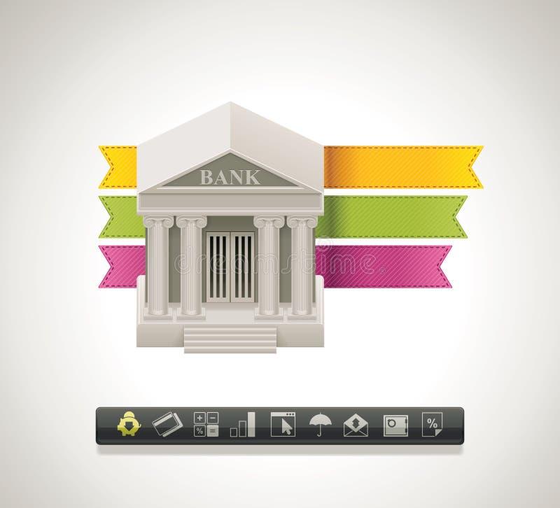 Icona della banca di vettore illustrazione di stock
