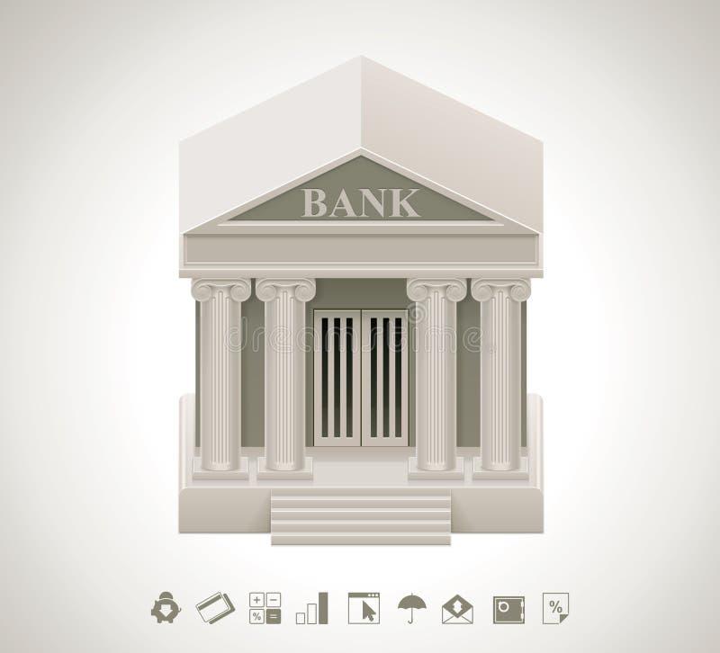 Icona della banca di vettore royalty illustrazione gratis