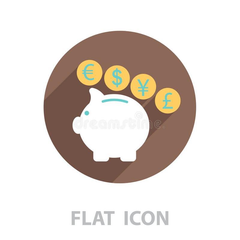 Icona della Banca Piggy Vettore royalty illustrazione gratis