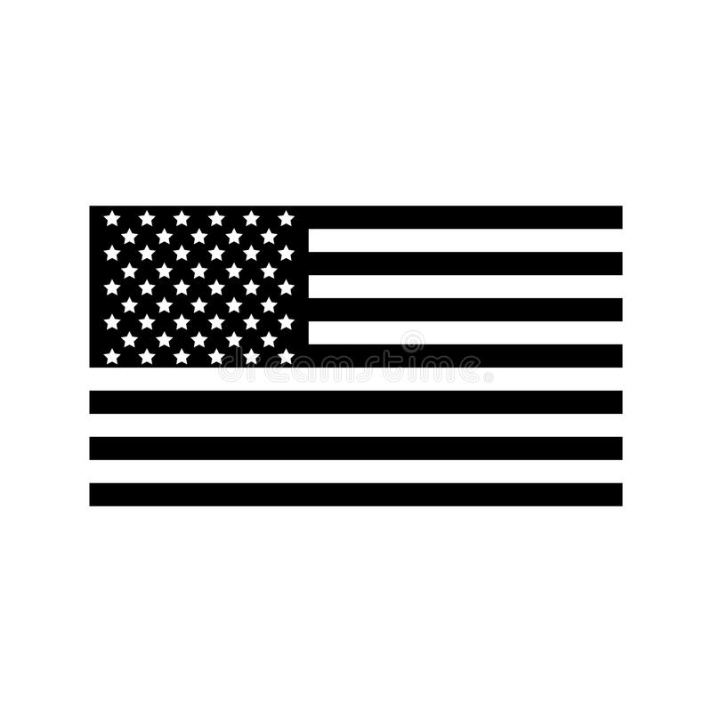 Icona della bandiera americana, stile semplice illustrazione vettoriale