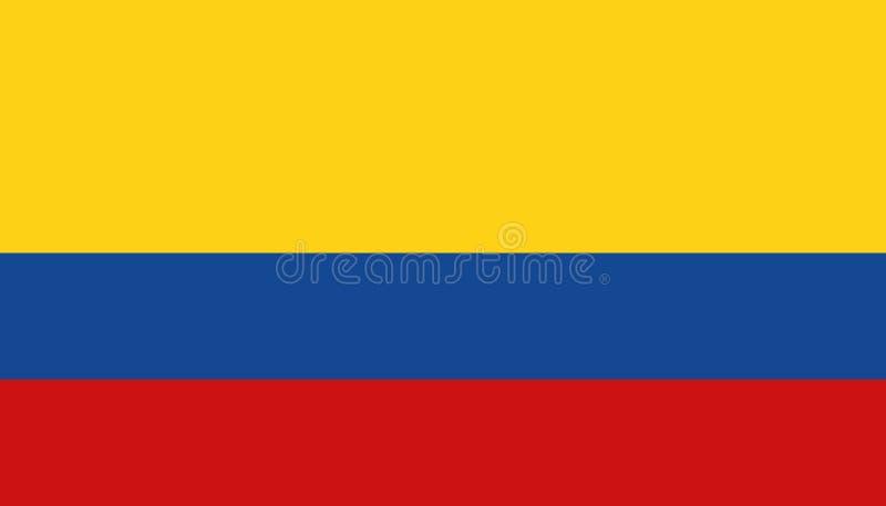 Icona della bandiera della Colombia nello stile piano r r royalty illustrazione gratis