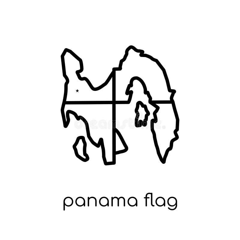 Icona della bandiera del Panama  illustrazione di stock
