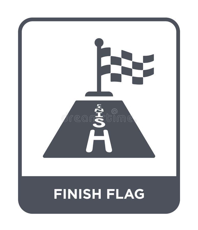 icona della bandiera di rivestimento nello stile d'avanguardia di progettazione icona della bandiera di rivestimento isolata su f royalty illustrazione gratis