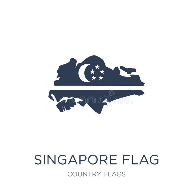 Icona della bandiera di Singapore  illustrazione vettoriale