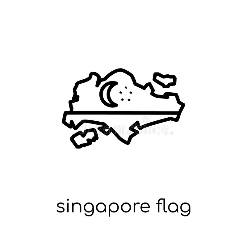 Icona della bandiera di Singapore  illustrazione di stock