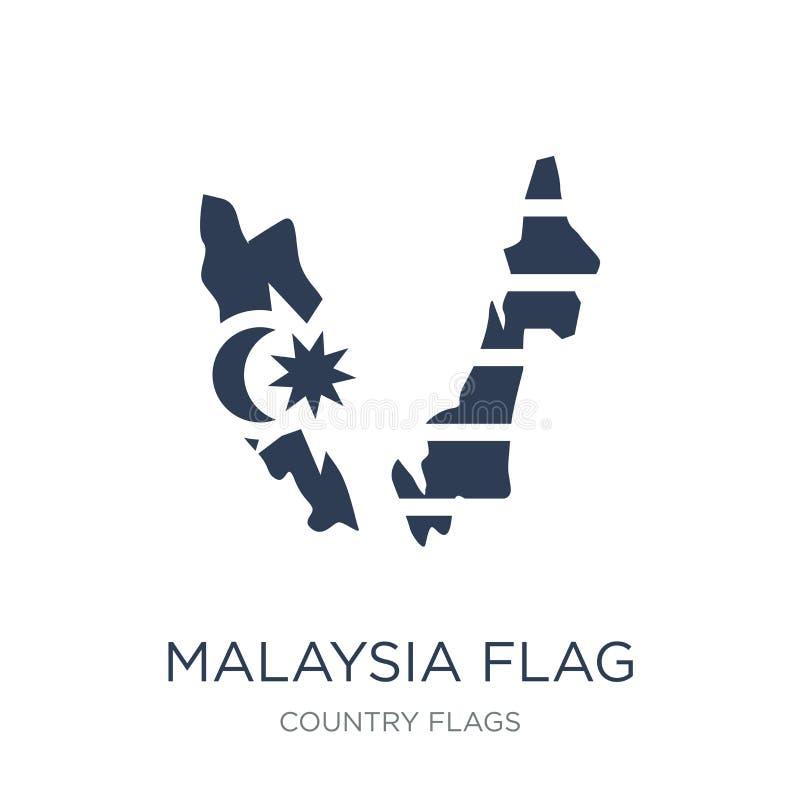 Icona della bandiera della Malesia  illustrazione vettoriale