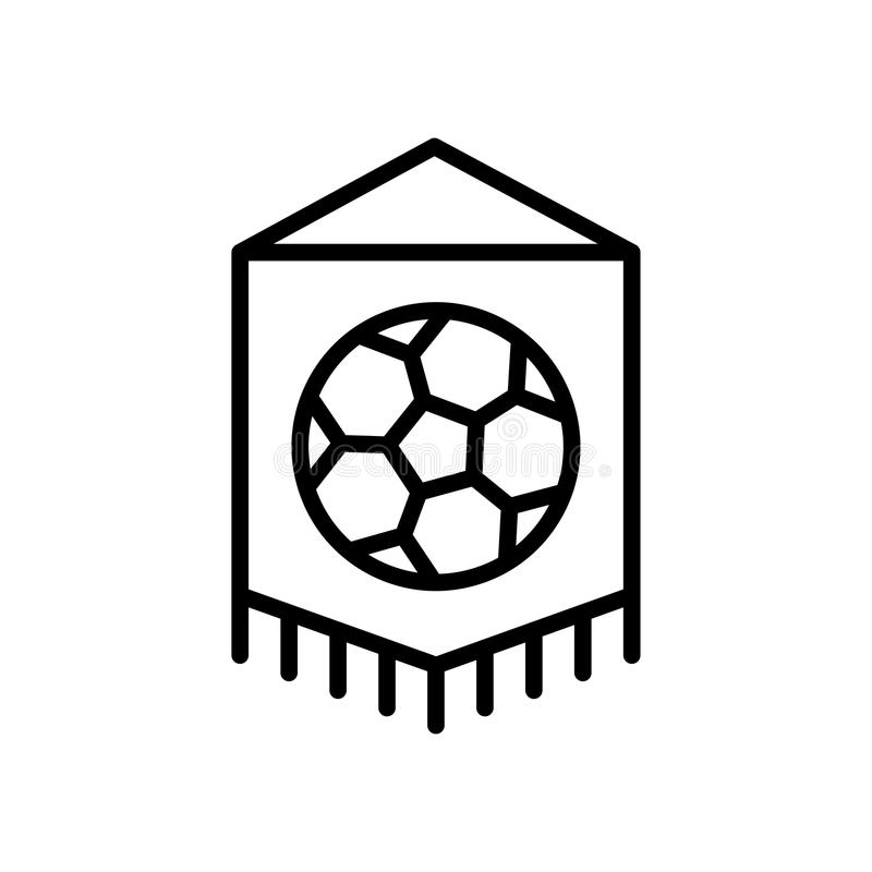 Icona della bandiera della squadra di football americano simbolo semplice di sport di stile del profilo dell'illustrazione illustrazione di stock