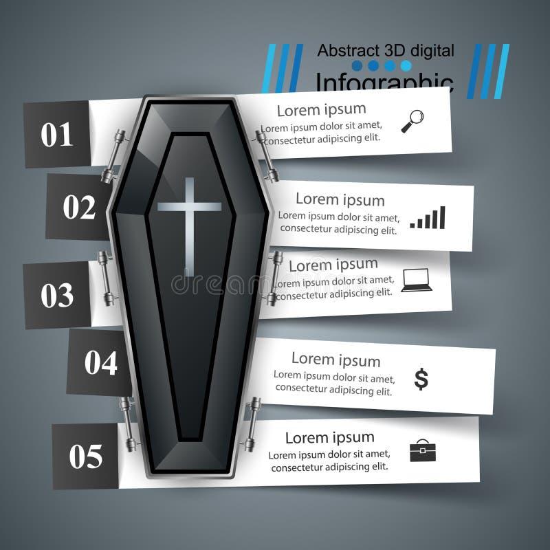Icona della bara Commercio Infographics illustrazione vettoriale