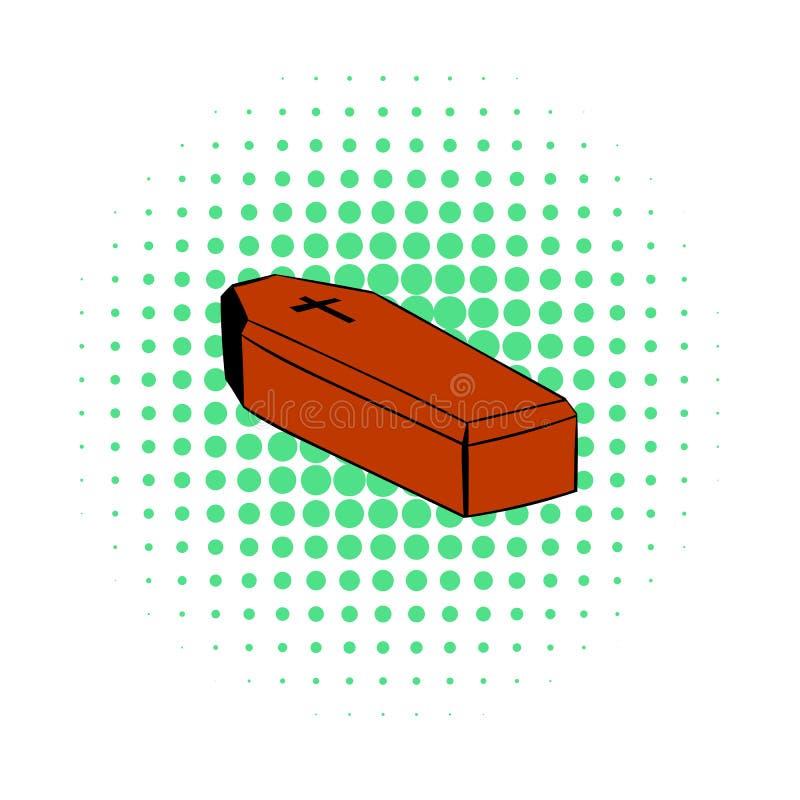 Icona della bara, stile dei fumetti illustrazione di stock