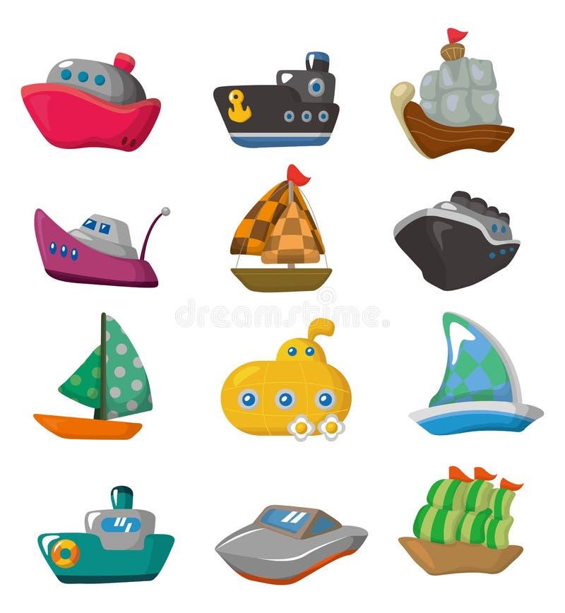 Icona della barca del fumetto illustrazione vettoriale