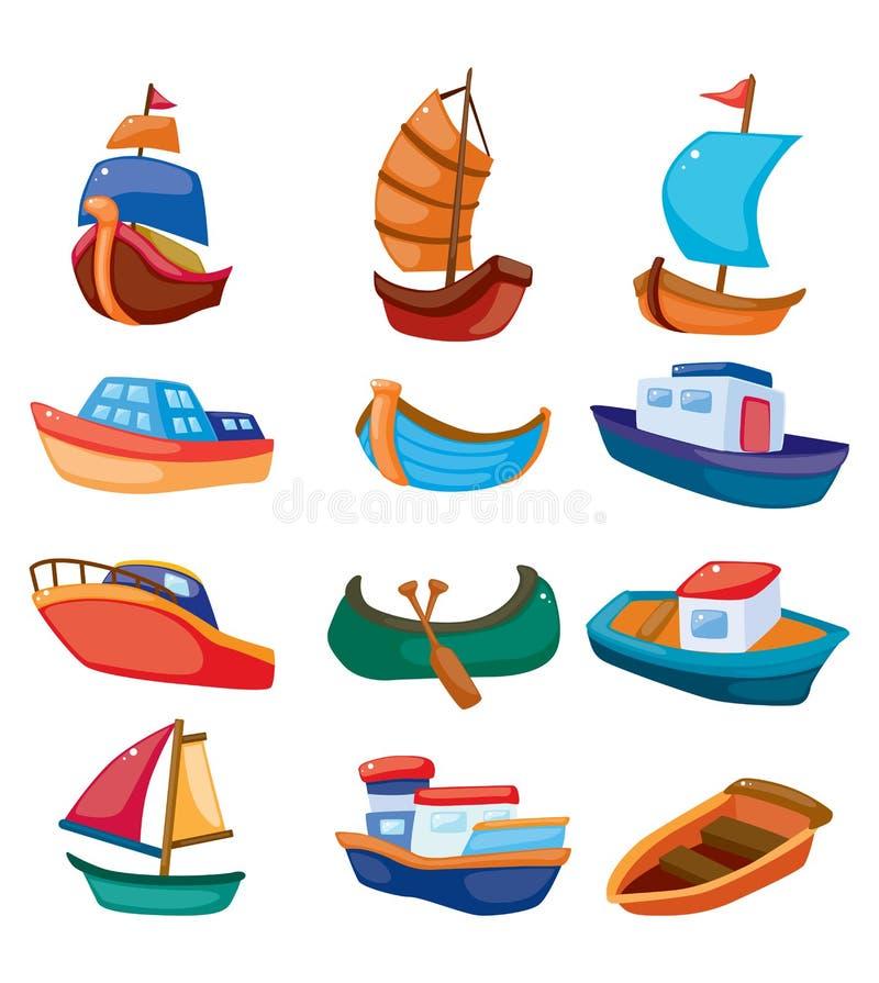 Icona della barca del fumetto illustrazione di stock