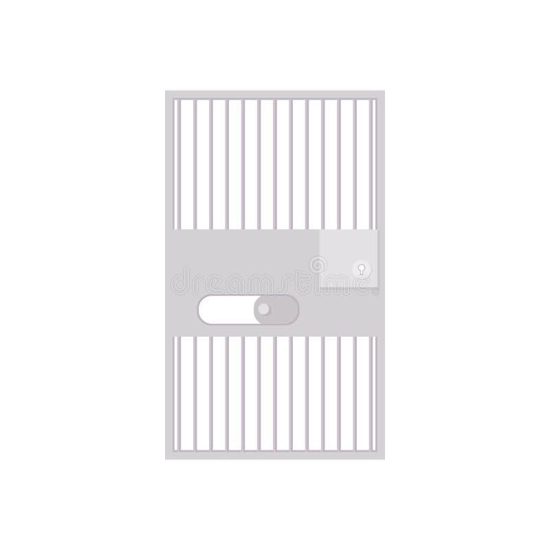 Icona della barra della prigione, stile del fumetto royalty illustrazione gratis