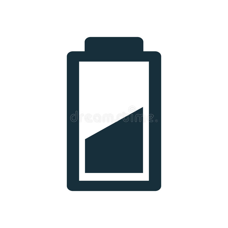 Icona della batteria su fondo bianco illustrazione vettoriale