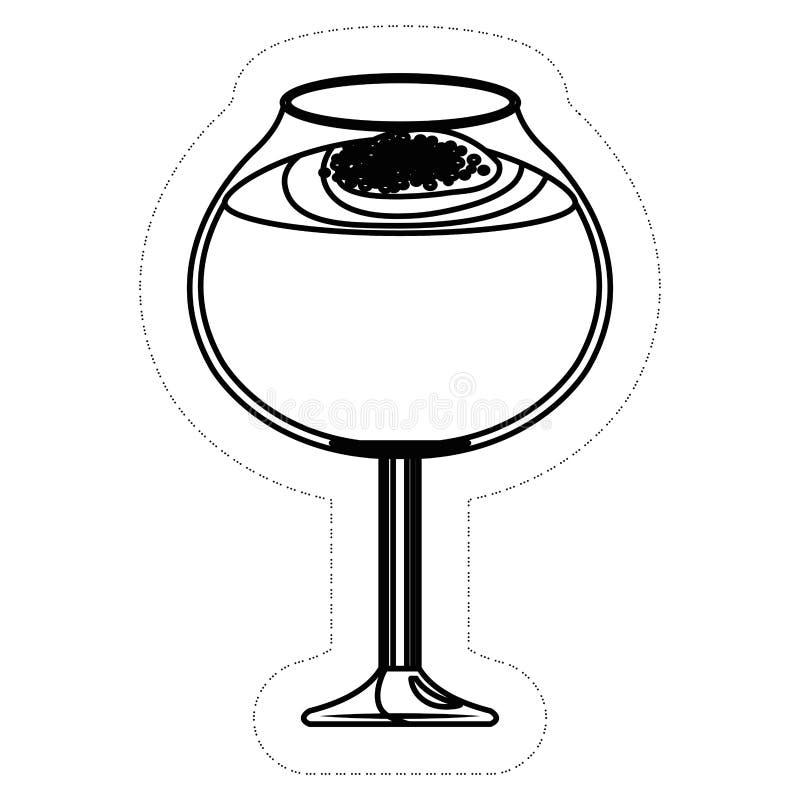 Icona della bevanda del cocktail illustrazione vettoriale