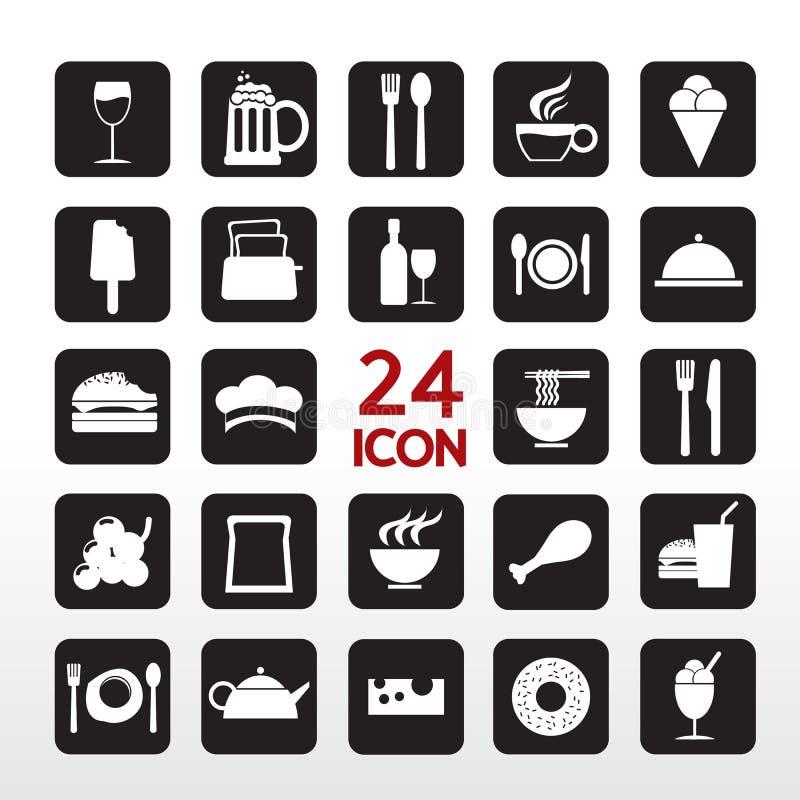 Icona della bevanda e dell'alimento. illustrazione di stock