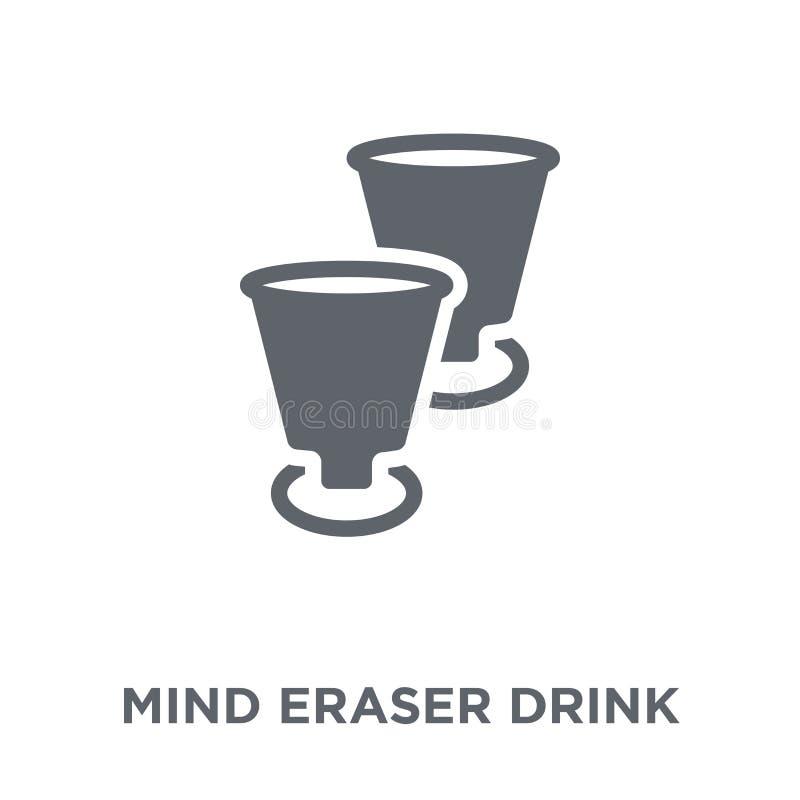 Icona della bevanda della gomma di mente dalla raccolta delle bevande illustrazione di stock