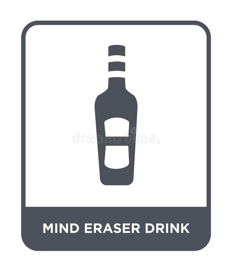 icona della bevanda della gomma di mente nello stile d'avanguardia di progettazione icona della bevanda della gomma di mente isol royalty illustrazione gratis