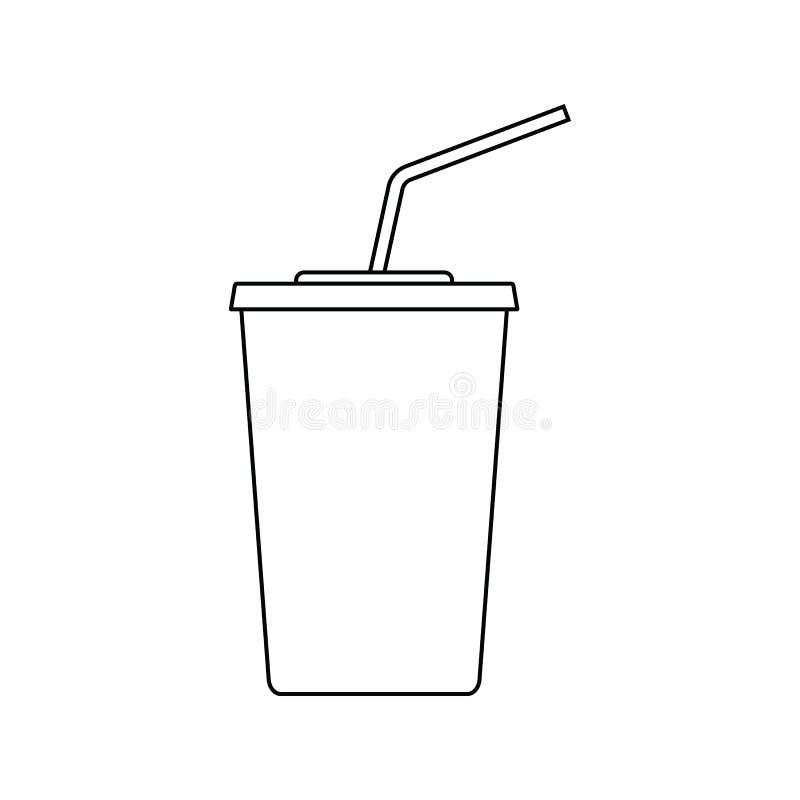Icona della bevanda della soda del cinema illustrazione di stock