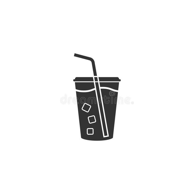 Icona della bibita nella progettazione semplice Illustrazione di vettore royalty illustrazione gratis