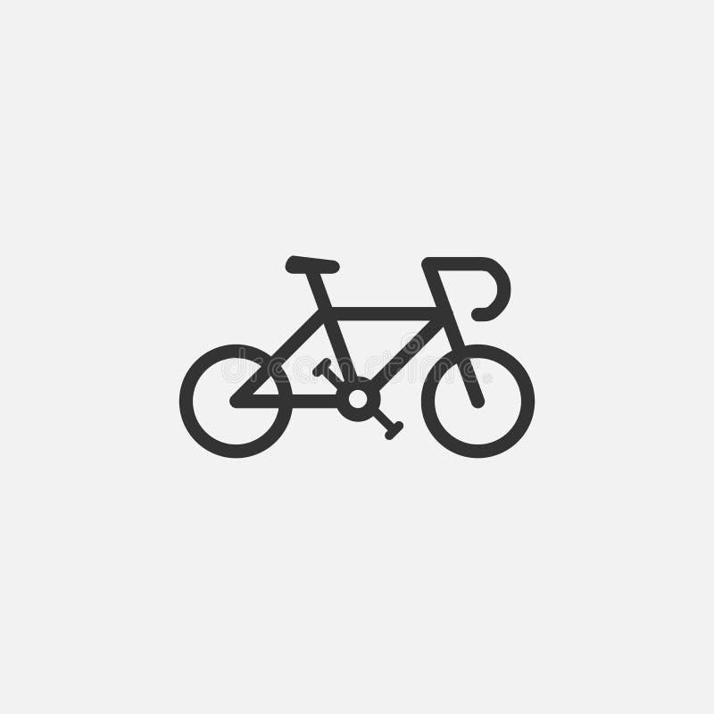 Icona della bici, bicicletta, veicolo, sport royalty illustrazione gratis