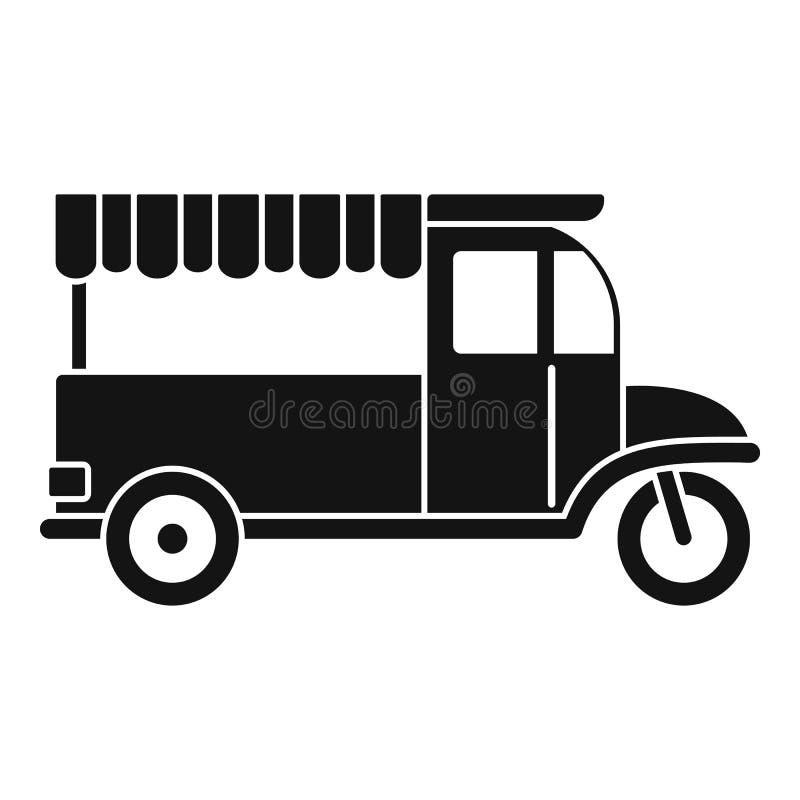 Icona della bici dell'alimento, stile semplice illustrazione di stock