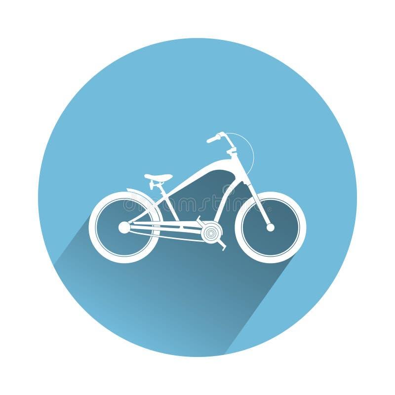 Icona della bici dell'incrociatore Bici blu royalty illustrazione gratis