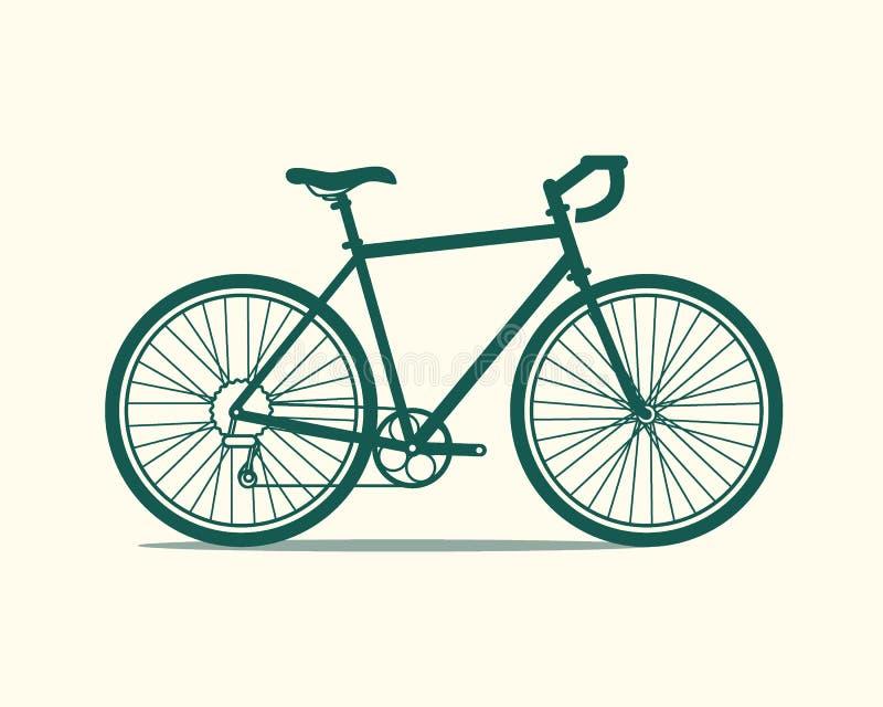 Icona della bicicletta immagine stock
