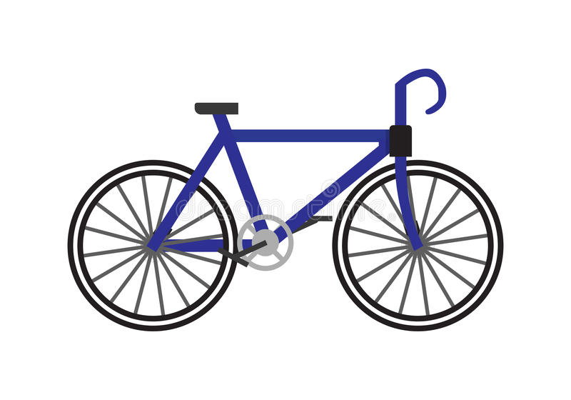 Icona della bicicletta in piano illustrazione vettoriale